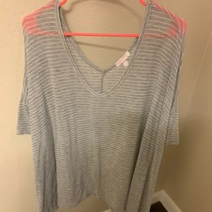 Light weight grey striped tunic